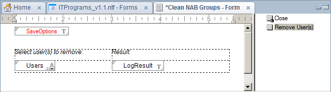 Form with 3 fields